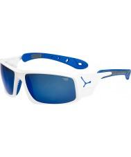 Cebe Ice 8000 skinnende hvite blå solbriller