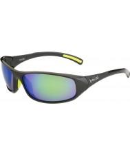 Bolle Crest skinnende antrasitt brune smaragd solbriller