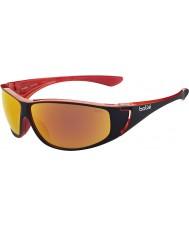 Bolle High skinnende svart rød polarisert TNS brann solbriller