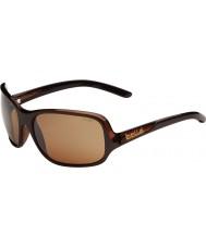 Bolle Kassia skinnende sjokolade polarisert sandstein pistol solbriller