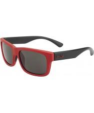 Bolle Daemon jr. matt rød svart TNS solbriller