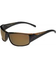 Bolle Keelback skinnende brune polariserte ag-14 solbriller