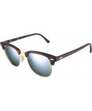 RayBan Rb3016 51 clubmaster sandskilpaddeskall-gull 114530 sølv speil solbriller