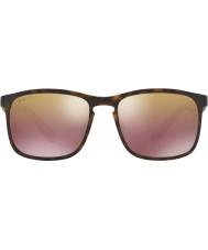 RayBan Rb4264 58 tech chromance matt Havana 894-6b brun speil polarisert solbriller