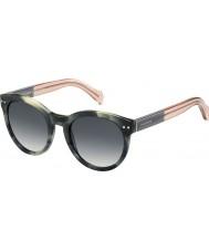 Tommy Hilfiger Ladies th 1291-ns MBR 9o grønne Havana rosa solbriller