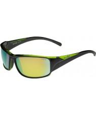 Bolle Keelback skinnende svart grønne polariserte brune smaragd solbriller