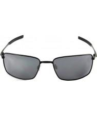 Oakley Oo4075-01 kvadrat ledning polert svart - svart iridium solbriller