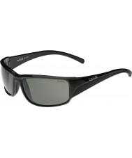 Bolle Keelback skinnende svart modulator polarisert grå solbriller