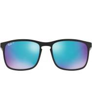 RayBan Rb4264 58 tech chromance mattsvarte 601sa1 blå flash polariserte solbriller