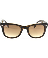 RayBan Rb4105 50 folding wayfarer lys skilpaddeskall 710-51 solbriller