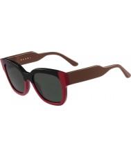 Marni Ladies me604s svarte og røde solbriller