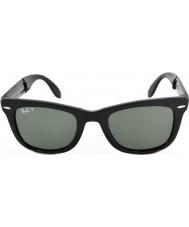 RayBan Rb4105 50 folding wayfarer svart 601-58 polariserte solbriller