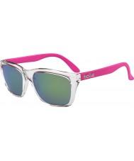 Bolle 527 retro samling skinnende krystall rosa brun smaragd solbriller