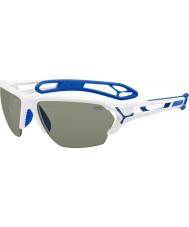 Cebe S-track store skinnende hvite solbriller
