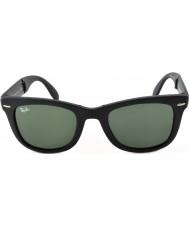 RayBan Rb4105 50 folding wayfarer mattsvarte 601S solbriller
