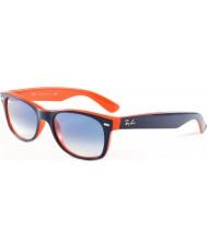 RayBan Rb2132 52 nye Wayfarer blå-oransje 789-3f solbriller