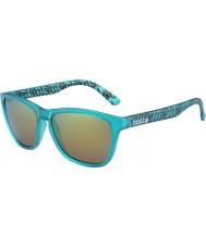 Bolle 437 retro samling matt turkis polarisert brune smaragd solbriller
