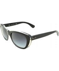 RayBan Rb4227 55 highstreet toppen matt sort på gjennomsiktig 60528g gradient solbriller