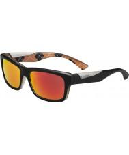 Bolle Jude matt svart oransje polarisert tns brann solbriller