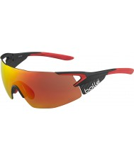 Bolle 5th Element pro skinnende matt karbon rød tns brann solbriller