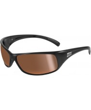Bolle Rekyl skinnende svart polarisert innlandet gull solbriller