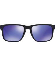 Oakley Oo9102-26 Holbrook Julian Wilson matt sort - violet iridium solbriller