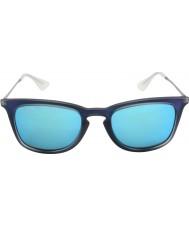 RayBan Rb4221 50 unggutten skutt blå gummi 617055 solbriller