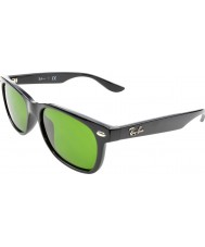 RayBan Junior Rj9052s 47 nye wayfarer skinnende sorte 100-2 solbriller
