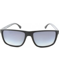 Emporio Armani Ea4033 56 moderne sort grå gummi 5229t3 polarisert solbriller