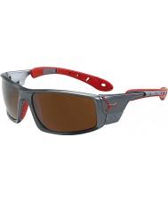 Cebe Ice 8000 mørk grå røde solbriller