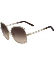 Chloe Ladies ce129s rose gull og transperent brune solbriller
