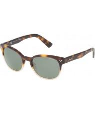 Police Mens mester 4 spl143-0z40 skinnende Havana solbriller