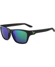 Cebe Hacker skinnende svart grønn 1500 grå flash speil grønne solbriller