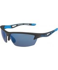 Bolle Bolt matt svart rose-blå solbriller