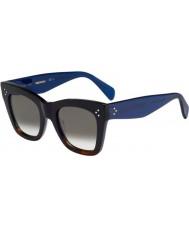 Celine Ladies cl 41090-s QLT z3 svart Havana blå solbriller