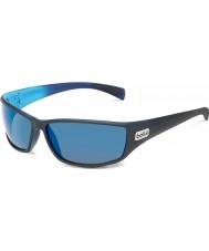 Bolle Python matt svart blå polarisert gb-10 solbriller