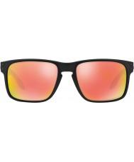 Oakley Oo9102-51 Holbrook matt svart - ruby iridium polarisert solbriller