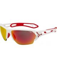 Cebe S-track stor matt hvit rød solbriller
