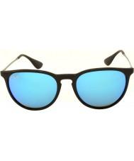 RayBan Rb4171 54 erika svart 601-55 blå speilet solbriller