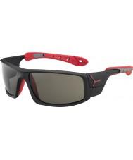 Cebe Ice 8000 matt svart rød variochrom rush solbriller