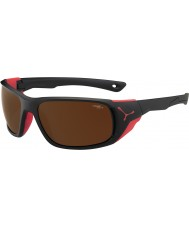 Cebe Jorasses store matt svart rød 2000 brun flash speil solbriller