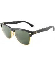 RayBan Rb4175 57 clubmaster dimensjonert demi skinnende svart-gull 877 solbriller