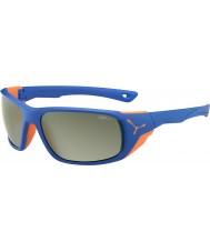 Cebe Jorasses stor matt blå oransje variochrom topp flash speil solbriller