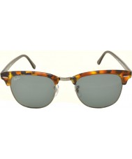 RayBan Rb3016 51 clubmaster oppdaget blå havana 1158r5 solbriller