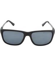 Polo Ralph Lauren Ph4088 55 matt svart grå 528481 polariserte solbriller