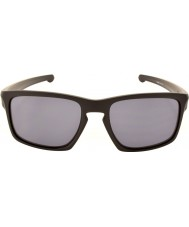 Oakley Oo9262-01 sliver matt svart - grå solbriller