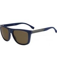 HUGO BOSS Mens sjefen 0834-s hwq sp blå polariserte solbriller
