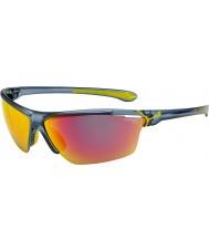Cebe Cinetik stor matt gjennomskinnelig blå solbriller