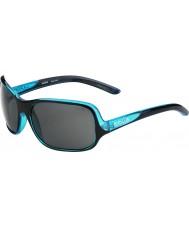 Bolle Kassia skinnende svart blå polarisert TNS solbriller