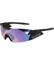 Bolle Sjette sans s matt svart blå-fiolett solbriller